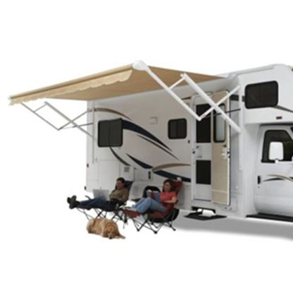 Picture of Carefree Eclipse/Travel'r/Pioneer Camel Vinyl 17'L X 8' Extension Adj Pitch Springless Patio Awning QJ176B00 00-0793