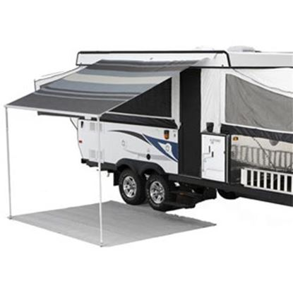 "Picture of Carefree Campout Black/Gray Vinyl 8' 5""L X 6' 6""Ext Adj Pitch Manual Bag Awning 981018D00 00-1018"