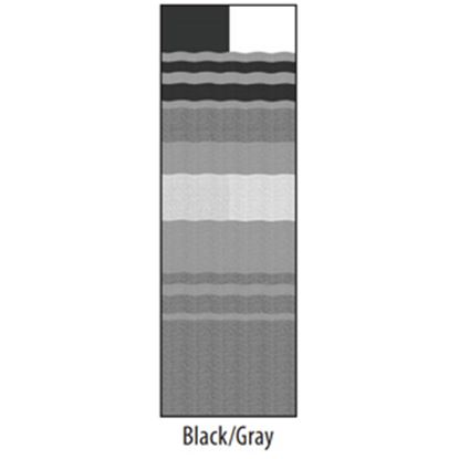 "Picture of Carefree  13' 2"" Black/Gray Dune Stripe w/ W WG Vinyl Patio Awning Fabric JU148D00 00-1634"