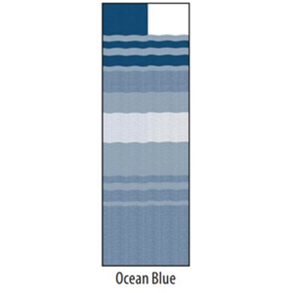 """Picture of Carefree  13' 2"""" Ocean Blue Dune Stripe w/ W WG Vinyl Patio Awning Fabric JU148E00 00-1635"""