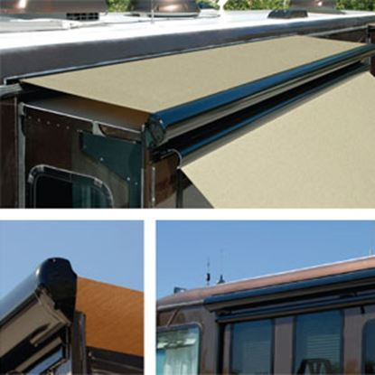 "Picture of Carefree Ascent Solid Black Vinyl 144-149"" Roof X 42""Ext Power Slide-Out Awning KB14862JV42 00-9909"
