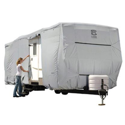 Picture of Classic Accessories PermaPRO (TM) Polyester Water Resistant RV Cover For 20-22' Travel Trailers 80-135-151001-00 01-0271