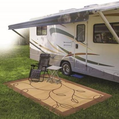 Picture of Camco  9' x 12'  Brown/ Tan Camping Mat 42855 01-0739