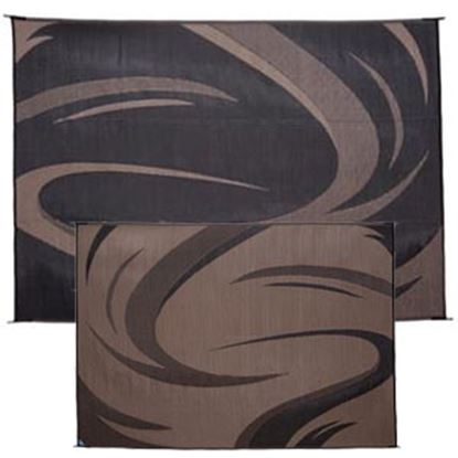 Picture of Ming's Mark  8' x 11' Black/ Brown Swish Reversible Camping Mat SD8111 01-0861