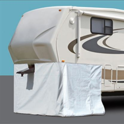 "Picture of ADCO  266""L X 64""H Polar White Vinyl Snap Mount Fifth Wheel Skirt 3502 01-1024"
