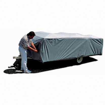 "Picture of ADCO SFS AquaShed (R) Gray Polypropylene Cover For 10' 1""-12' Folding/Pop Up Trailers 12292 01-1139"