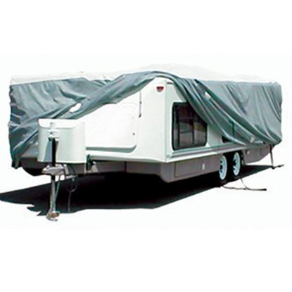 """Picture of ADCO Tyvek (R) 315"""" L x 104"""" W x 60"""" H Cover For 22' 7""""-26' Hi-Lo Style Trailers 22853 01-1216"""