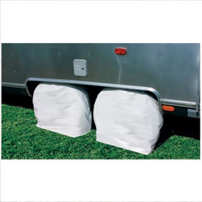 "Picture of Camco  1-Pair Arctic White 36-39"" Tire Covers 45325 01-1398"