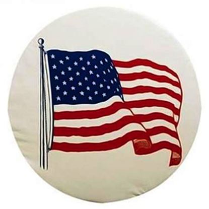 "Picture of ADCO  27"" Size J Flag Spare Tire Cover 1787 01-1850"