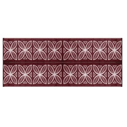 Picture of Camco  8' x 20' Burgundy Botanical Reversible Camping Mat 42832 01-2942