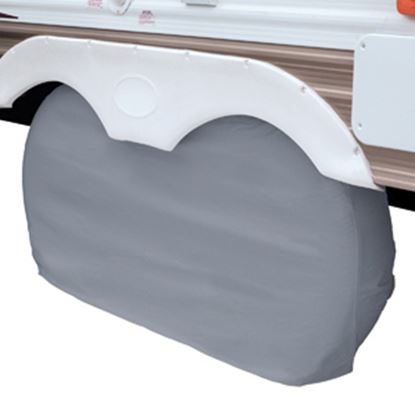 """Picture of Classic Accessories  1-Pack Gray 27"""" to 30"""" Diam Double Tire Cover 80-108-041001-00 01-3851"""