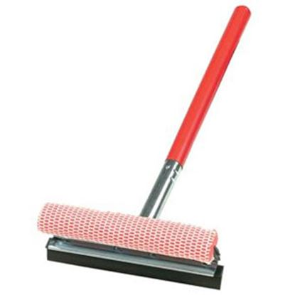 """Picture of Carrand  10"""" Metal Squeegee w/20"""" Wood Handle 9039R 02-1349"""