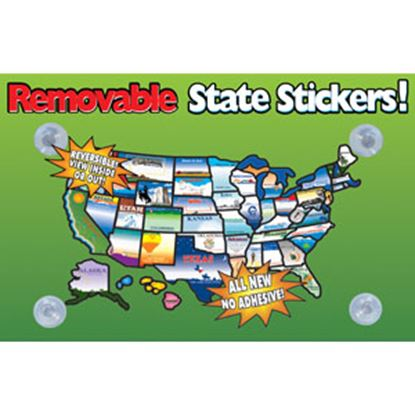 Picture of State Stickers  Removable State Stickers REMOVABLESTATESTICKERS 03-0129