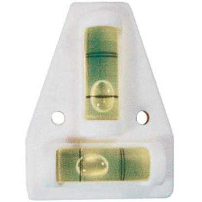 Picture of Prime Products  White Screw-On Side/Side & Front/Rear Bubble RV Level 28-0152 03-0172
