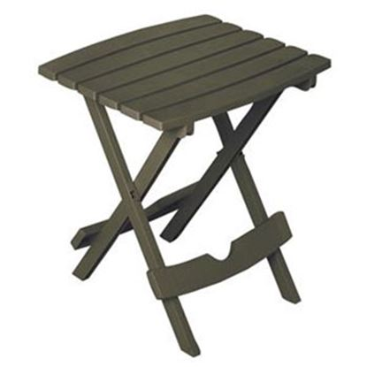 "Picture of Adam's Quik-Fold (R) 19-3/4""L x 15-1/4""W x 17-3/8""H Earth Brown Polypropylene Folding Table 8500-60-3731 03-0269"