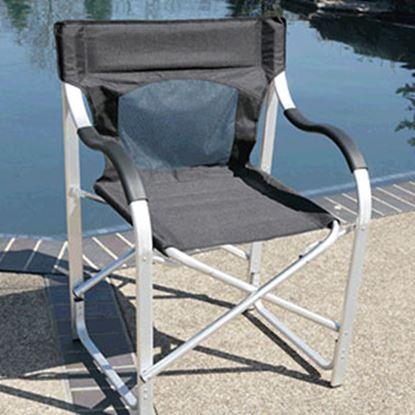 Picture of Faulkner  Black Aluminum Director's Chair 43948 03-0487