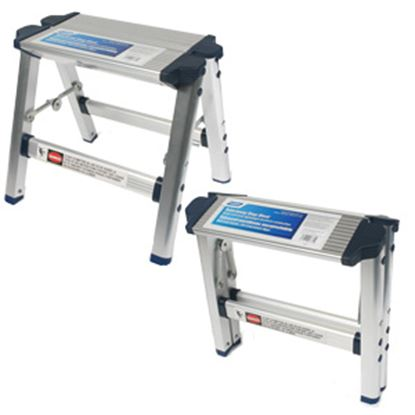 """Picture of Camco  11-1/2""""H Aluminum Folding Step Stool 43672 03-0955"""