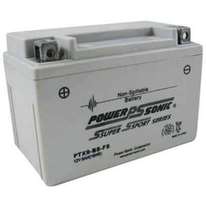 """Picture of Power-Sonic  12V 6""""L X 3-7/16""""W X 4-3/16""""H Battery PTX9BS-FS 03-1885"""