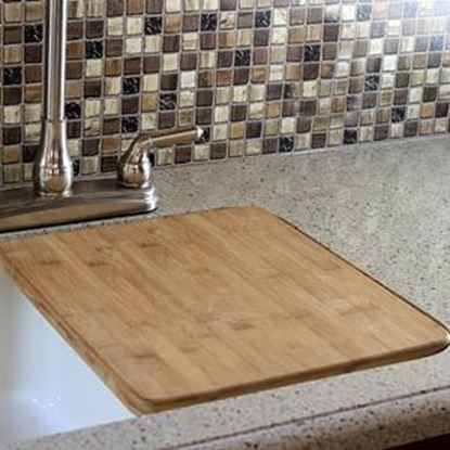"Picture of Camco  13""x15"" Bamboo Sink Cover 43437 03-1952"