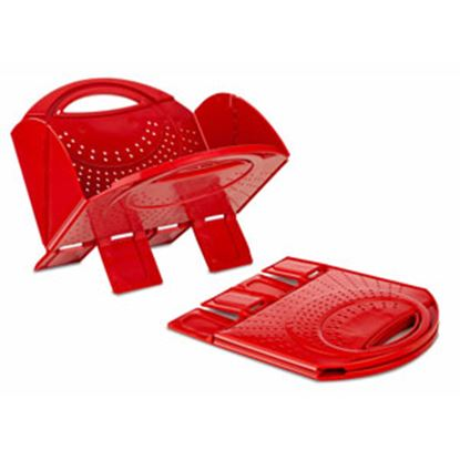 Picture of B&R Plastics  Red Plastic Foldable Kitchen Strainer 2741-12 03-4621