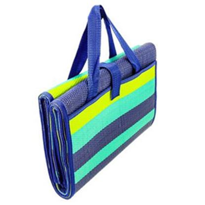 Picture of Camco Handy Mat 5' x 6-1/2' Blue/Turquoise/Green Camping Mat 42806 03-8086