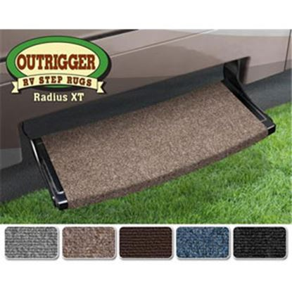 "Picture of Prest-o-Fit Outrigger (R) Castle Gray 22"" Radius XT Entry Step Rug 20383 04-0301"