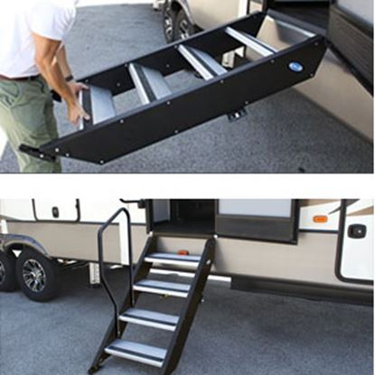 """Picture of MOR/ryde StepAbove (TM) 27"""" W x 39""""-42"""" H Quad Manual Entry Step STP-4-27-05H 04-0350"""