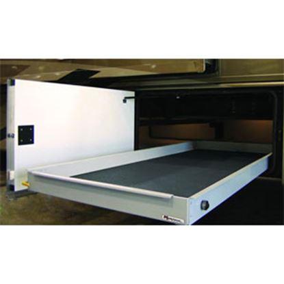 """Picture of MOR/ryde MOR/stor 800 lb Powder Coat 20"""" W x 72"""" D Cargo Slide w/Flooring CTG60-2072W 05-0493"""
