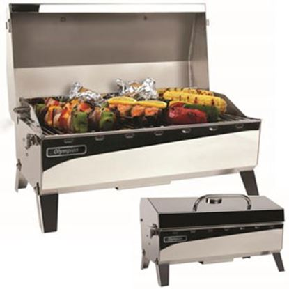 Picture of Camco Olympian  4500 Rectangular Stainless Steel LP Barbeque Grill 57251 06-0086