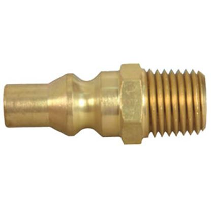 """Picture of JR Products  1/4"""" Male Pipe Thread x Male Quick Connect LP Hose Connector 07-30445 06-0115"""