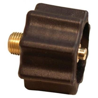 "Picture of Marshall Excelsior  1-5/16""Female ACME x 1/4""MNPT LP Hose Connector w/ Shut Off ME517 06-2816"