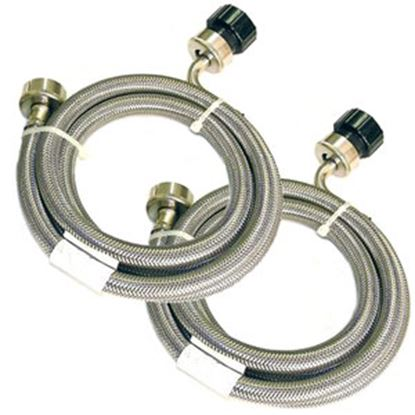 Picture of Pinnacle  5'L Braided Stainless Steel Clothes Washer/ Dryer Inlet Hose 18-2826 07-0211