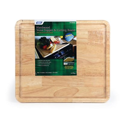 "Picture of Camco  Natural 17""L x 19-1/2""W x 3/4""H Hardwood Cutting Board 43753 07-0278"
