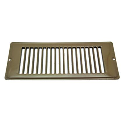 """Picture of AP Products  Brown 4""""W x 10""""L Floor Heating/ Cooling Register w/o Damper 013-634 08-0155"""