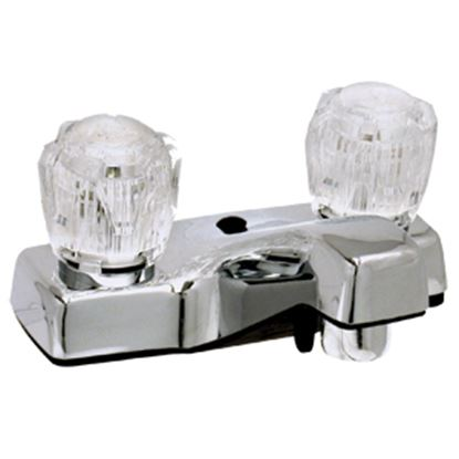 "Picture of Phoenix Faucets  Chrome w/ Clear Knobs 4"" Lavatory Faucet PF212307 10-0191"