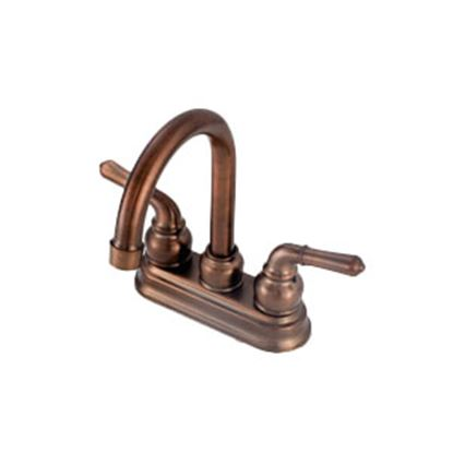 "Picture of American Brass  Bronze w/Teapot Handles 4"" Kitchen Faucet w/Hi-Arc Spout OB16ORB 10-0384"