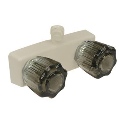 "Picture of Dura Faucet  4"" Parchment Plastic Shower Valve w/Smoke Knobs DF-SA100S-BQ 10-0830"