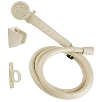 """Picture of Dura Faucet  Bisque Parchment Handheld Shower Head w/60"""" Hose DF-SA130-BQ 10-0839"""