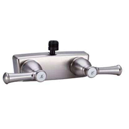"Picture of Dura Faucet Designer Series 4"" Nickel Plated Plastic Shower Valve w/Designer Handles DF-SA100L-SN 10-1324"