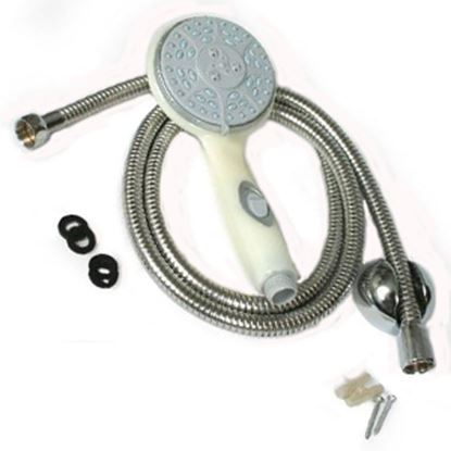 "Picture of Camco  Off-White Handheld Shower Head w/5 Spray Settings & 60"" Hose 43715 10-1667"