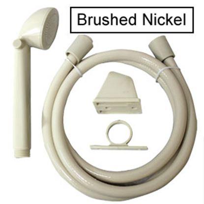 "Picture of Utopia  Nickel Handheld Shower Head w/60"" Hose 39024 10-1820"