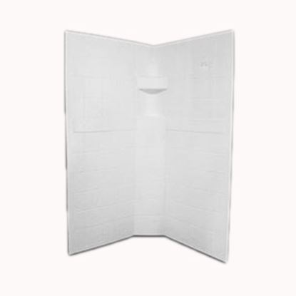 """Picture of Specialty Recreation  3-Piece Parchment 34"""" x 34"""" x 67"""" Neo Angle Shower Surround NSW3434P 10-1887"""