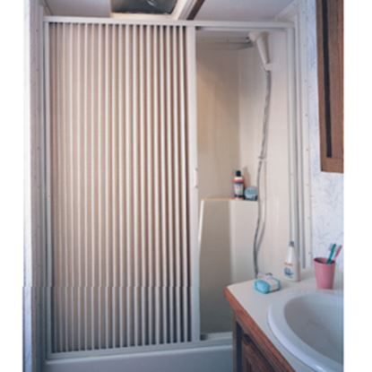 "Picture of Irvine  36"" x 67"" Ivory PVC Shower Door 3667SI 10-2072"