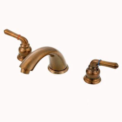 "Picture of American Brass  Bronze w/Teapot Handles 4"" Lavatory Faucet w/Low-Arc Spout ORB29ORBLAS 10-2335"