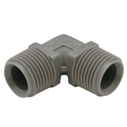 "Picture of QEST Qicktite (R) 3/4"" MPT Gray Acetal Fresh Water Elbow  10-3054"