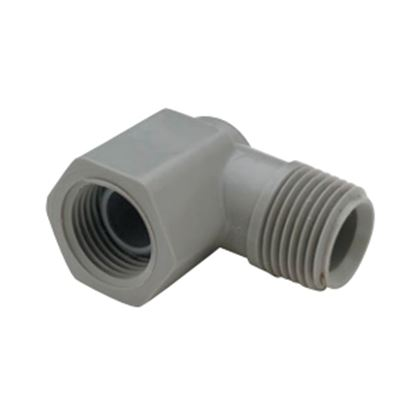 "Picture of QEST Qicktite (R) 1/2"" MPT x 1/2"" FPT Gray Acetal Fresh Water Elbow  10-3180"