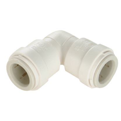"Picture of Sea Tech 35 Series 1/2"" Female QC Copper Tube Off-White Polysulfone Fresh Water 90 Deg Union El 013517-10 10-8170"