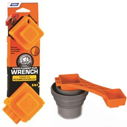 Picture of Camco RhinoFLEX (TM) Orange Plastic Sewer Cleanout Wrench 39755 11-0015