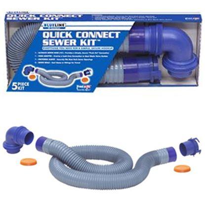 Picture of Prest-o-Fit Blue Line (R) Blue 10' Vinyl Sewer Hose 1-0202 11-0212