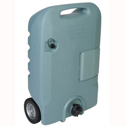 Picture of Tote-N-Stor  25 Gal 2-Wheel Portable Waste Holding Tank w/ Tow Bracket 25608 11-0234